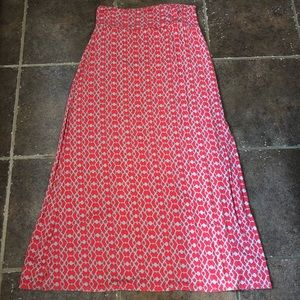 Coral and Tan maxi skirt from Dillard's Sz L